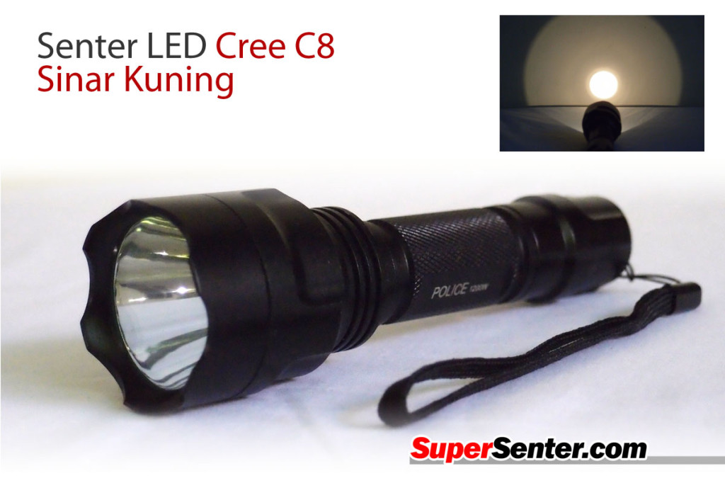 Senter LED Cree C8 Sinar Kuning