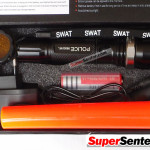 Senter Police SWAT 98000W with compas (5 mode Cahaya)