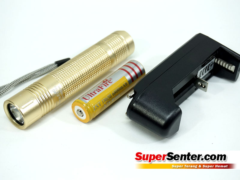 Senter ultraviolet ultrafire box