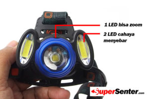 Senter Kepala Led MM3 SMD Zoom